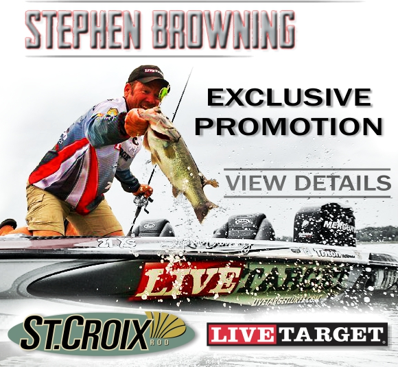 Exclusive, Swanson's Stephen Browning Bass Promotion. St. Croix & LIVETARGET