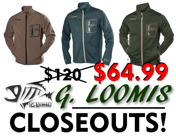 New G. Loomis Technical Softshell Jacket Closeout!!